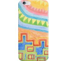 Striped Bungalows in the bright Sunlight iPhone Case/Skin