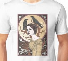 Girl with the crows Unisex T-Shirt