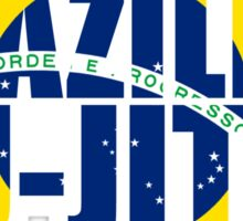 Brazilian Jiu Jitsu Flag (BJJ) Sticker