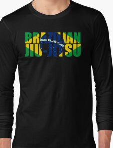 Brazilian Jiu Jitsu Flag (BJJ) Long Sleeve T-Shirt