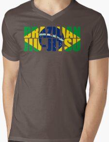 Brazilian Jiu Jitsu Flag (BJJ) Mens V-Neck T-Shirt