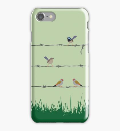Barbed wire meeting iPhone Case/Skin