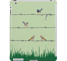 Barbed wire meeting iPad Case/Skin