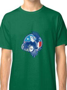 American Bald Eagle Beer Keg Flag Circle Retro Classic T-Shirt