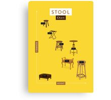 Stool Chart Canvas Print