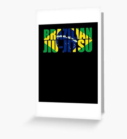 Brazilian Jiu Jitsu Flag (BJJ) Greeting Card