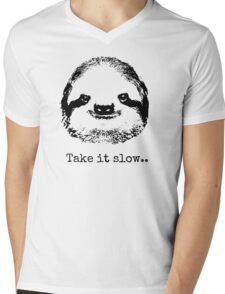 Take it slow.... Mens V-Neck T-Shirt