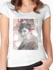 Flower Lady Women's Fitted Scoop T-Shirt