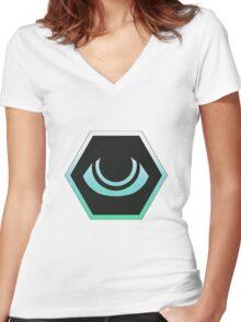 Log Horizon Enchanter Logo Women's Fitted V-Neck T-Shirt
