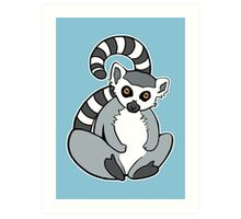 Sitting Ring-Tailed Lemur Art Print
