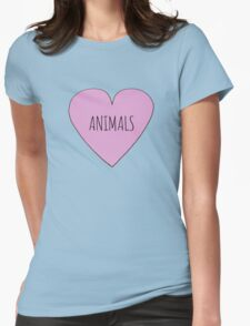 Animals <3 Womens Fitted T-Shirt