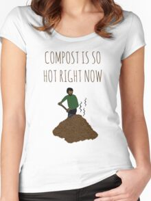 Compost Is So Hot Right Now Women's Fitted Scoop T-Shirt