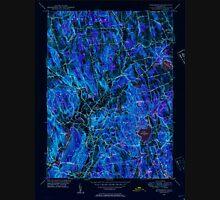 USGS TOPO Map Connecticut CT Woodbury 461086 1948 31680 Inverted Unisex T-Shirt