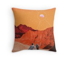Mars Holidays Throw Pillow