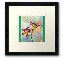Water colour lily Framed Print