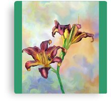 Water colour lily Canvas Print