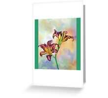 Water colour lily Greeting Card