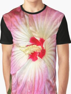 Orchid in Pink and White Graphic T-Shirt