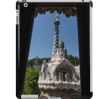 Fanciful Trencadis Tilework - Antoni Gaudi's Entrance Pavilion at Park Guell iPad Case/Skin