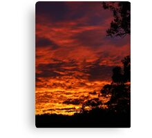 Sunset Spectacular 31st July 2007 Canvas Print