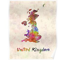 United Kingdom in watercolor Poster