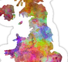 United Kingdom in watercolor Sticker