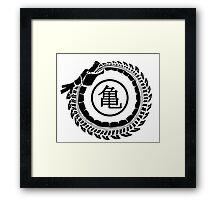 Shenron Ouroboros black Framed Print