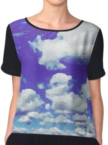 Painted Cloudscape Chiffon Top