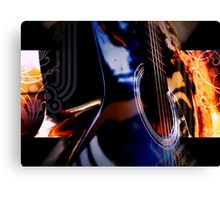 Blue Guitar Canvas Print