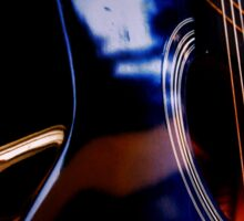 Blue Guitar Sticker