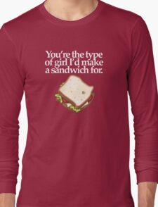 SANDWICH for GIRL  (DARK) Long Sleeve T-Shirt