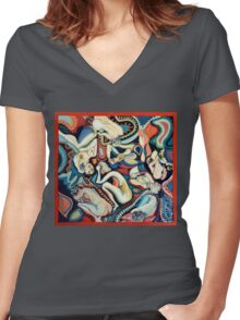 Secret Thoughts Women's Fitted V-Neck T-Shirt