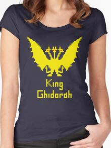 King Ghidorah Pixel Women's Fitted Scoop T-Shirt