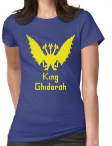 King Ghidorah Pixel Womens Fitted T-Shirt