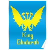 King Ghidorah Pixel Poster