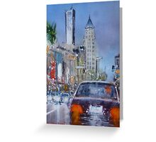 Hollywood night Greeting Card