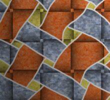 Weave Orange Blue Yellow Black Sticker