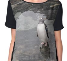 Lonely Penguin Chiffon Top