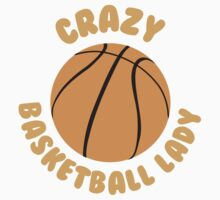 Crazy basketball lady (circle) Kids Tee