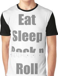 Eat Sleep Rock n Roll Graphic T-Shirt