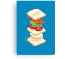 Anatomy of a Club Sandwich Canvas Print