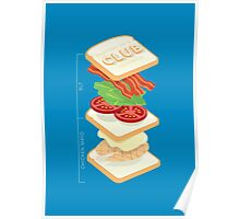 Anatomy of a Club Sandwich Poster