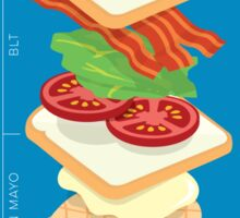 Anatomy of a Club Sandwich Sticker