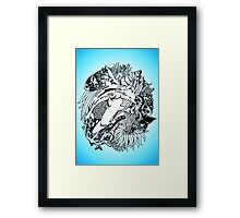 Sea Ocean Animals Art Design Framed Print