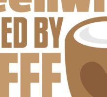 Screenwriter powered by coffee Sticker