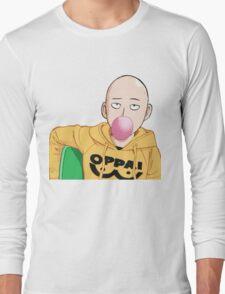 saitama bubble gum Long Sleeve T-Shirt