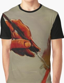 Hand Painted Painted Hand Painting Traditional Painting  Graphic T-Shirt