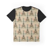 Eiffel Tower French Postcard Graphic T-Shirt