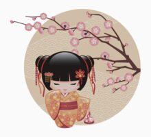 Japanese Ume Kokeshi Doll Kids Tee