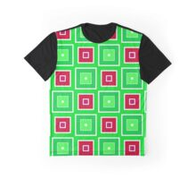 Green red squares pattern Graphic T-Shirt